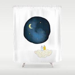 La tête dans les étoiles by Vanessa Art créations Shower Curtain