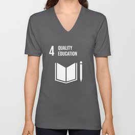 4 Quality Education Global Goals  Unisex V-Neck
