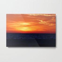 After Burn of Sunset on Anna Maria Island Metal Print