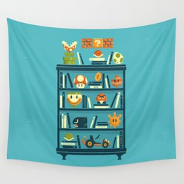 Mario Shelf Wall Tapestry