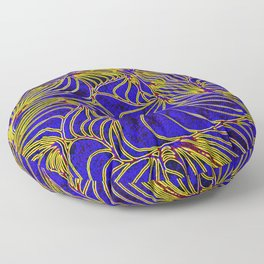Curves in Yellow & Royal Blue Floor Pillow