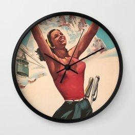 Cervina Vintage Travel Poster Wall Clock