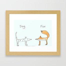 dog fox Framed Art Print