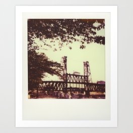 Steel Bridge Art Print
