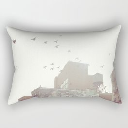 Birds Over Soho Rectangular Pillow