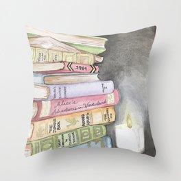 Wishlist of Vintage Books Throw Pillow