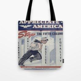 Vintage poster - Appreciate America Tote Bag