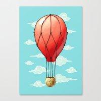 hot air balloon Canvas Prints featuring Hot Air Balloon by Freeminds