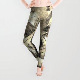 Household Cavalry Changing Of The Guard Vintage Leggings