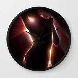 Light Figure Wall Clock