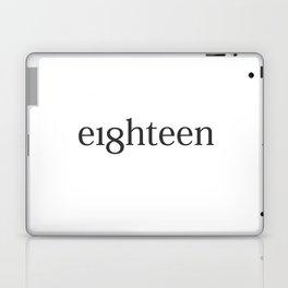 Eighteen Typo #society6 #decor #buyart Laptop & iPad Skin