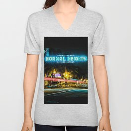 Normal Heights (San Diego) Sign - SD Signs Series #2 Unisex V-Neck