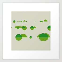 #242 River scenery – Geometry Daily Art Print
