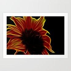 Sunflower glow Art Print