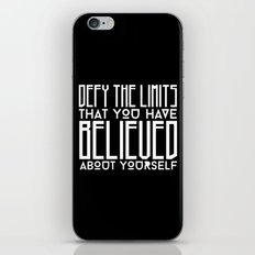 Defy Your Own Limits iPhone & iPod Skin