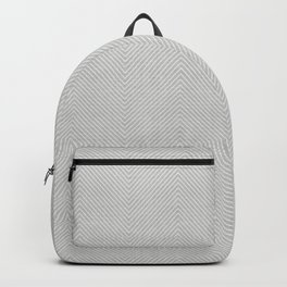 Stitch Weave Geometric Pattern in Grey Backpack