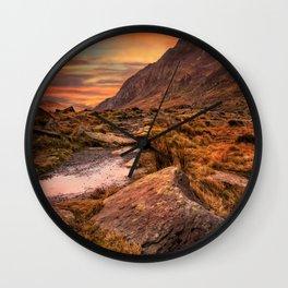 Tryfan Mountain Sunrise Wall Clock