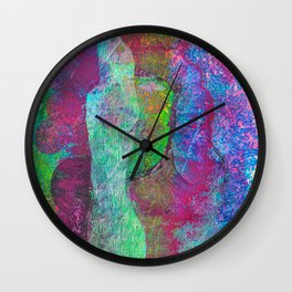 Mind Body Spirit Wall Clock