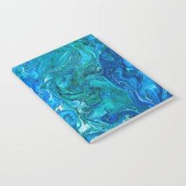 Elegant Crazy Lace Agate 2 - Blue Aqua Notebook