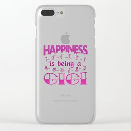 Happiness is Being a GIGI Clear iPhone Case