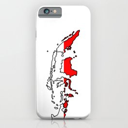 Indonesia Map with Indonesian Flag iPhone Case