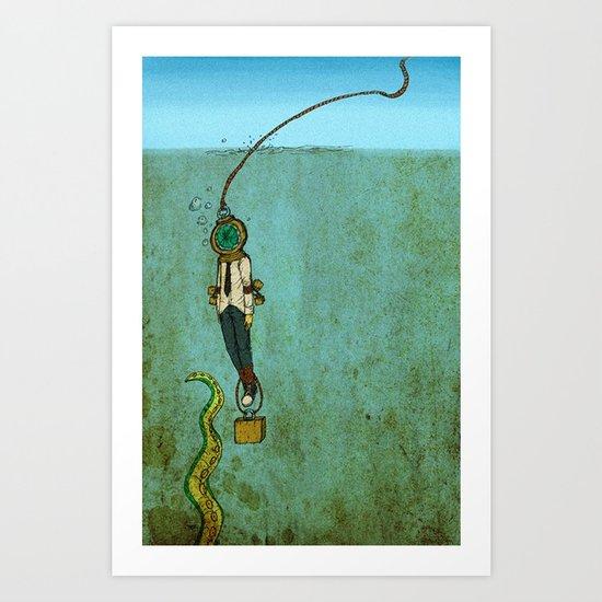 Nautical Grief  Art Print