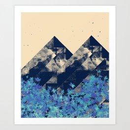 Blue Mountains #society6 #decor #buyart Art Print