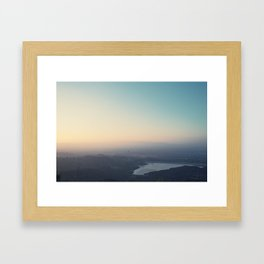 Sunset Reservoir Framed Art Print