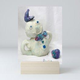 Snowman Sculpture Mini Art Print