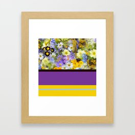 Floral Pattern And Bold Color Framed Art Print