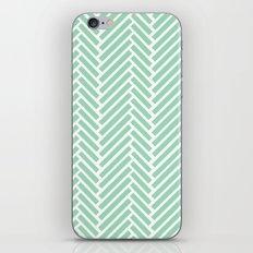 Herringbone Mint Zoom iPhone & iPod Skin