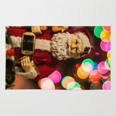 Santa Bokeh 2 Rug