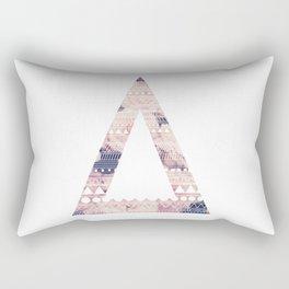Aztec Inspired Triangle Design Rectangular Pillow