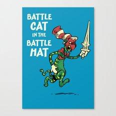 Battle Cat in the Battle Hat Canvas Print
