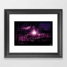 On My Mind All Night Framed Art Print