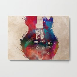 guitar art 6 #guitar #music Metal Print