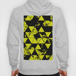 Splatter Triangles In Black And Yellow Hoody