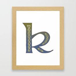 Celtic Knotwork Alphabet - Letter K Framed Art Print