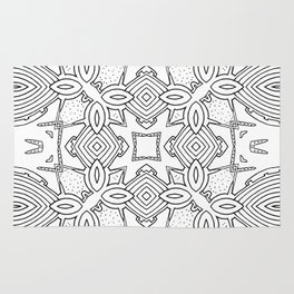 outback lines Rug