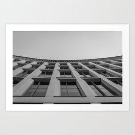 Bowed Building Art Print