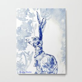 The Blu Hare Metal Print