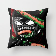 To Catch A Spider Throw Pillow