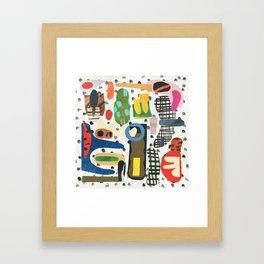 Speech Bubble Framed Art Print