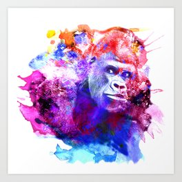Gorillas are some of the most powerful and striking animals Art Print