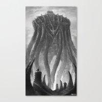 kraken Canvas Prints featuring KRAKEN by Kirkrew
