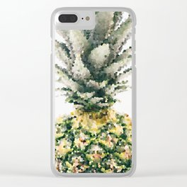 Pineapple crystallize Clear iPhone Case