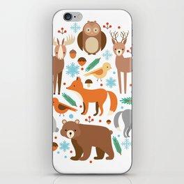 Cartoon Cute Animals iPhone Skin