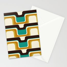 Mid-Century Modern Meets 1970s Teal Stationery Cards