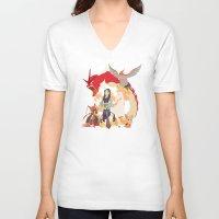 mulan V-neck T-shirts featuring Team Mulan by Citron Vert