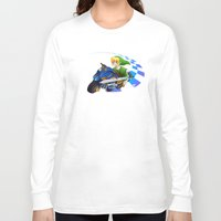mario kart Long Sleeve T-shirts featuring Mario Kart 8 - Link on the Mastercycle by brit eddy